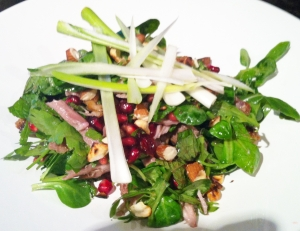 Duck and pomegranate salad