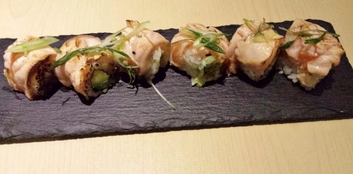 Aburi Salmon and Avocado Maki
